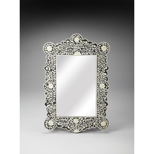 Butler Specialty Company Bone Inlay Bone Inlay Wall Mirror