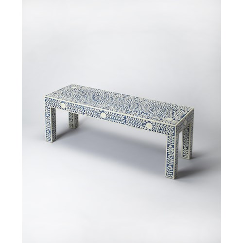 Butler Specialty Company Bone Inlay Blue Bone Inlay Bench