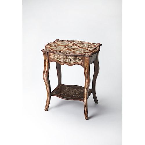 Butler Specialty Company Bone Inlay Wood & Bone Inlay Side Table