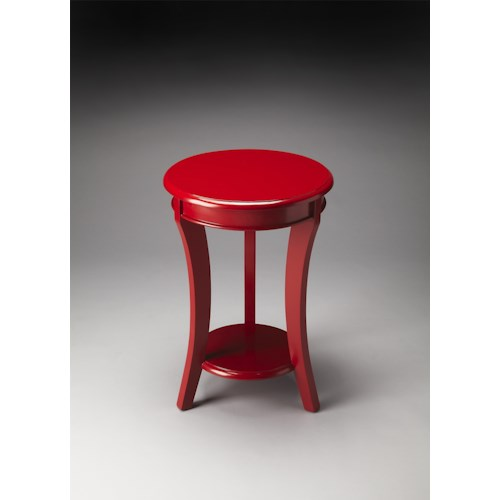 Butler Specialty Company Butler Loft Holden Red Contemporary Accent Table