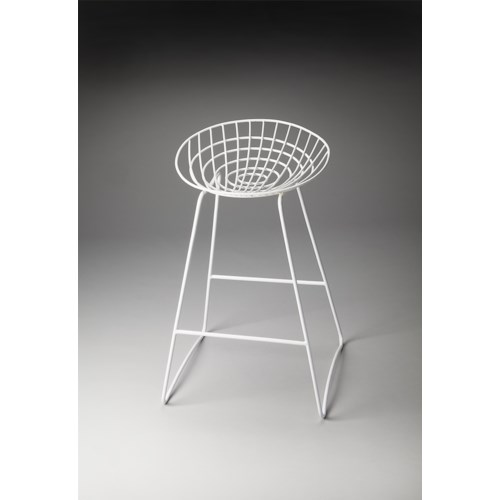 Butler Specialty Company Butler Loft Ludwig White Metal Bar Stool