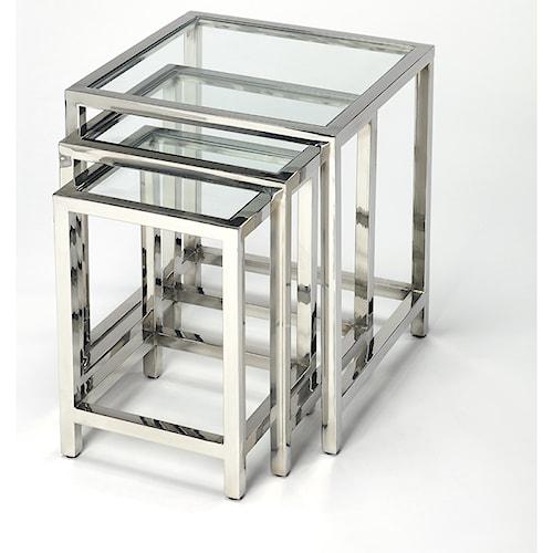 Butler Specialty Company Butler Loft Adler Stainless Steel Nesting Tables