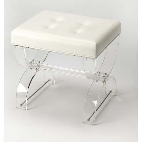 Butler Specialty Company Butler Loft Morena Acrylic Vanity Stool