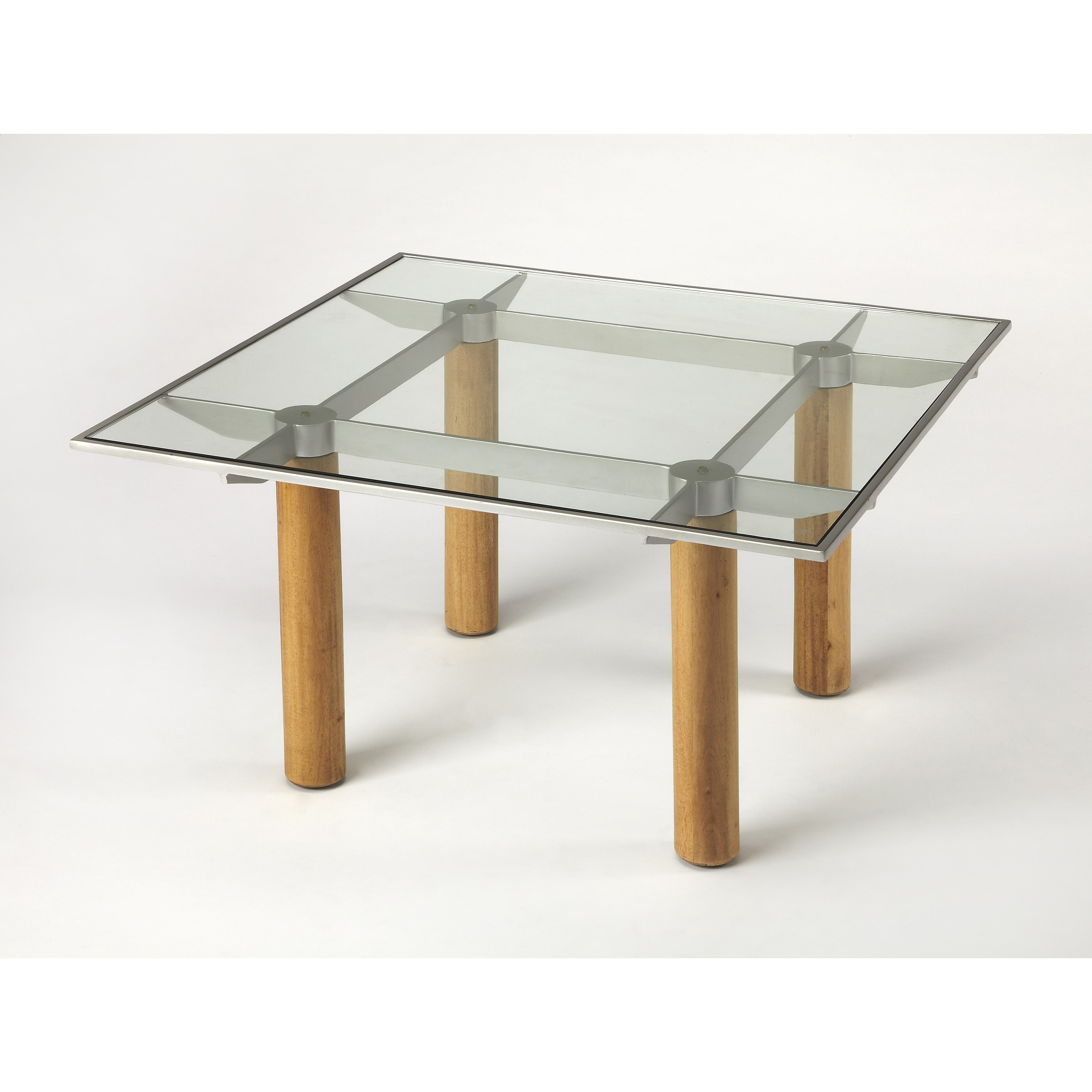 Cirrus Glass & Metal Cocktail Table