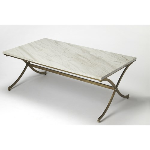 Butler Specialty Company Butler Loft Pamina Travertine Cocktail Table