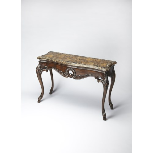 Butler Specialty Company Connoisseur's Fossil Stone Console Table