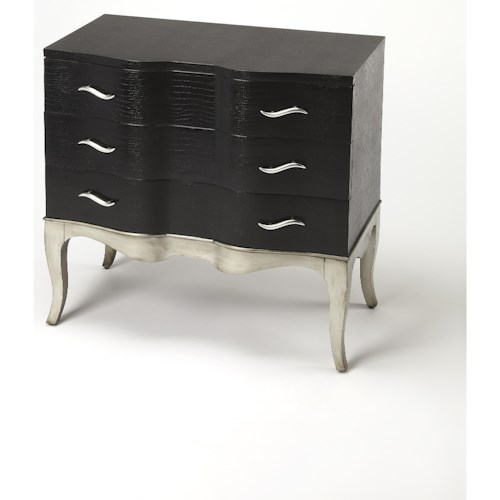 Butler Specialty Company Cosmopolitan Fleurot Leather Console Chest
