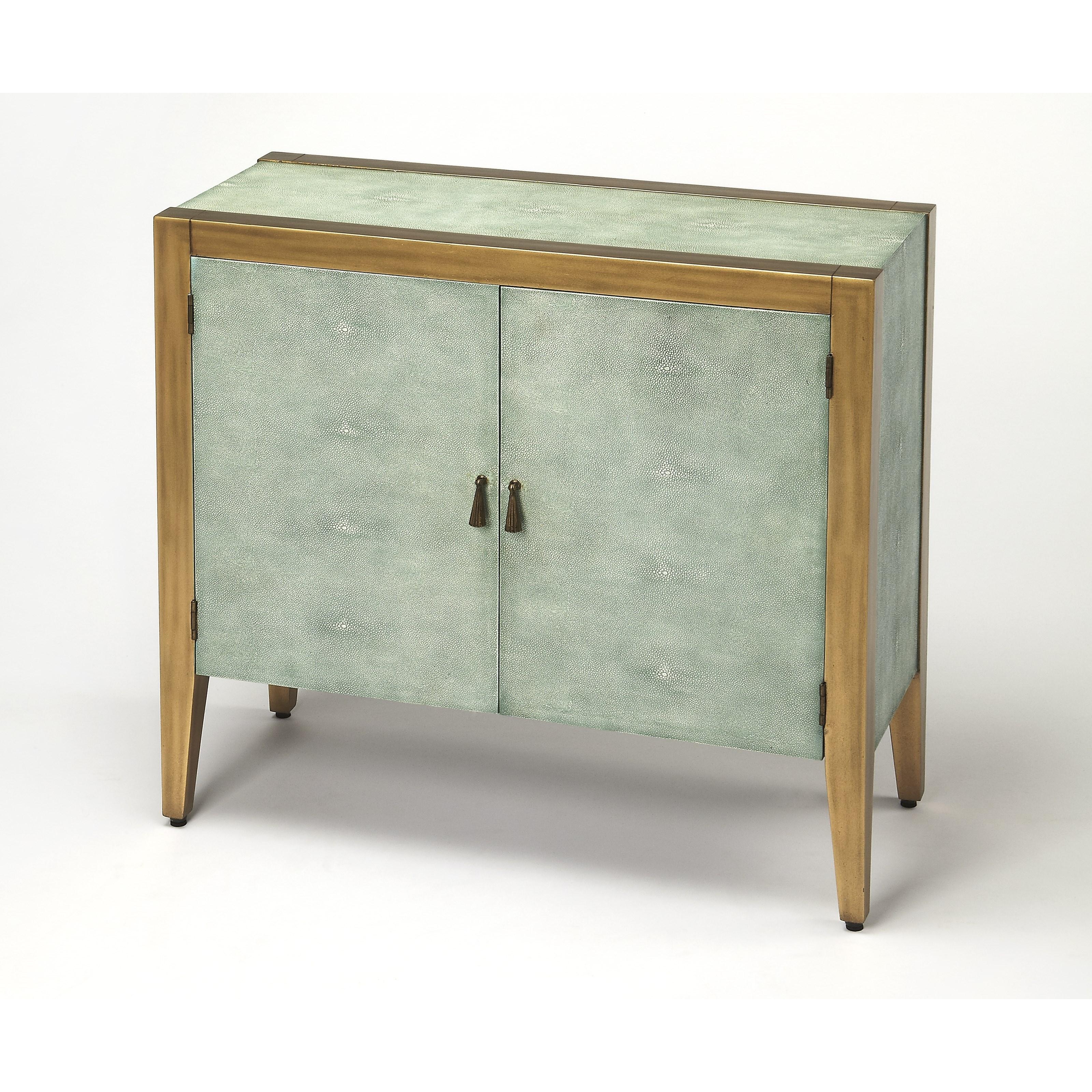 Butler Specialty Company Cosmopolitan Apollonia Shagreen Console Cabinet