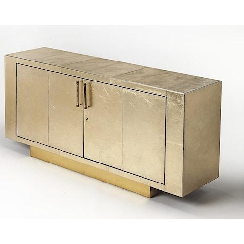 Butler Specialty Company Cosmopolitan Francois Gold Leather Buffet