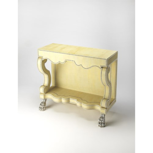Butler Specialty Company Cosmopolitan Bonino Cosmopolitan Leather Console Table