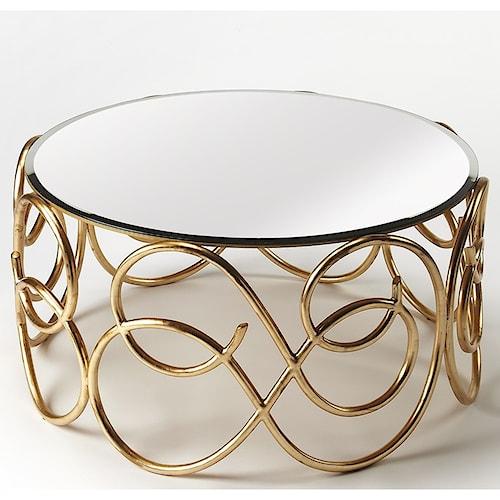 Butler Specialty Company Cosmopolitan Concerto Antique Gold Cocktail Table