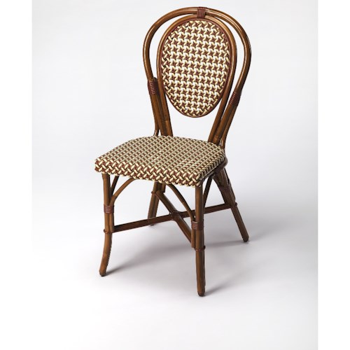 Butler Specialty Company Designers Edge Leena Rattan Side Chair