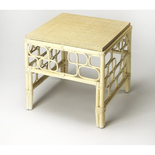 Butler Specialty Company Designers Edge Althea Rattan End Table