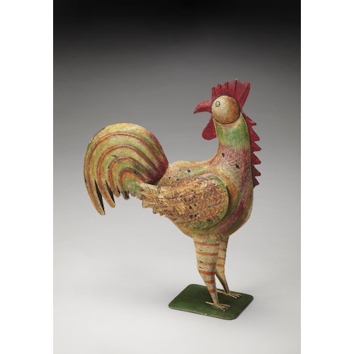 Butler Specialty Company Hors D'oeuvres Majestic Iron Rooster Figurine