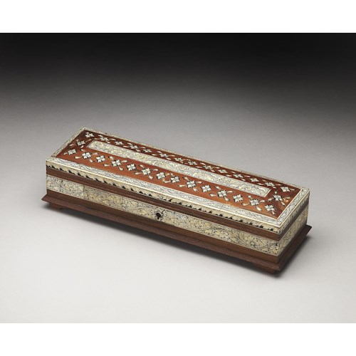 Butler Specialty Company Hors D'oeuvres Agra Bone Inlay Storage Box
