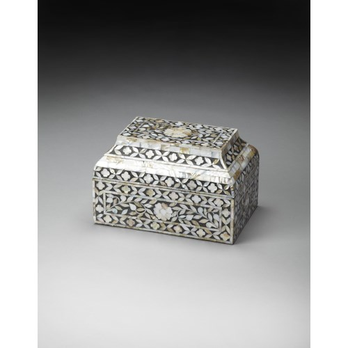Butler Specialty Company Hors D'oeuvres Mother Of Pearl Storage Box