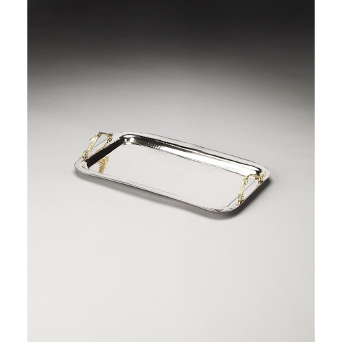 Butler Specialty Company Hors D'oeuvres Marten Stainless Steel & Brass Serving Tray