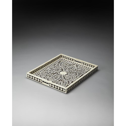 Butler Specialty Company Hors D'oeuvres Bone Inlay Serving Tray