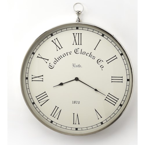 Butler Specialty Company Hors D'oeuvres Grafton Nickel Finish Wall Clock