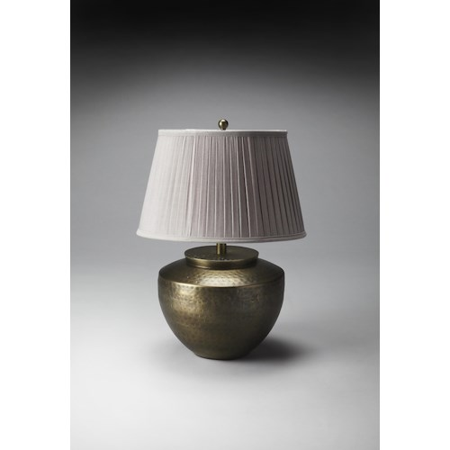Butler Specialty Company Hors D'oeuvres Hammered Antique Brass Finish Table Lamp