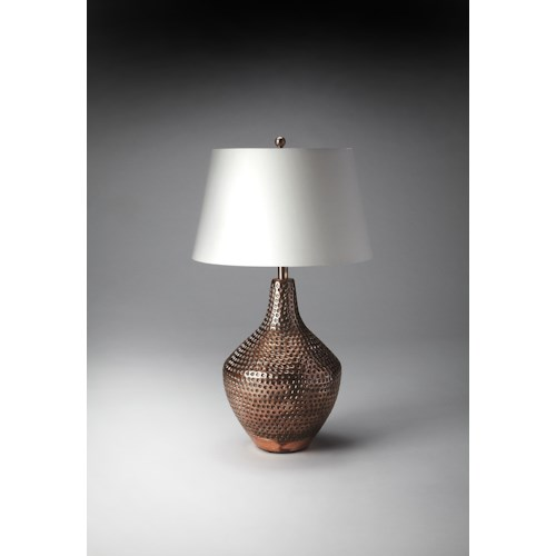 Butler Specialty Company Hors D'oeuvres Antique Copper Table Lamp