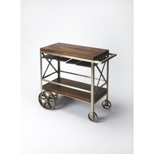 Butler Specialty Company Industrial Chic Industrial Chic Trolley Server