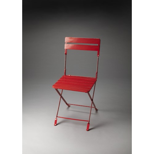 Butler Specialty Company Industrial Chic Bailey Red Folding Chair