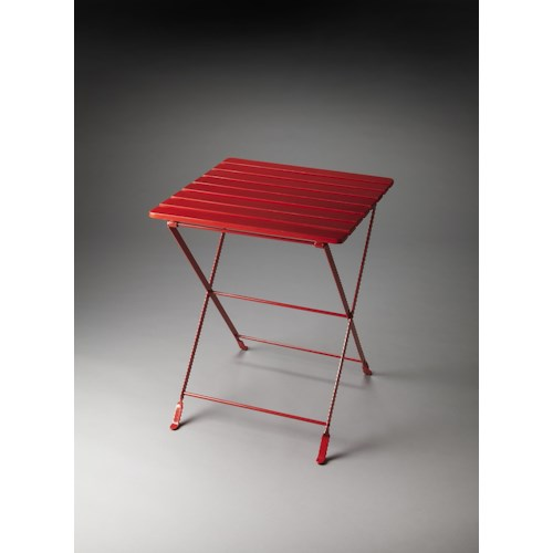 Butler Specialty Company Industrial Chic Bailey Red Folding Side Table