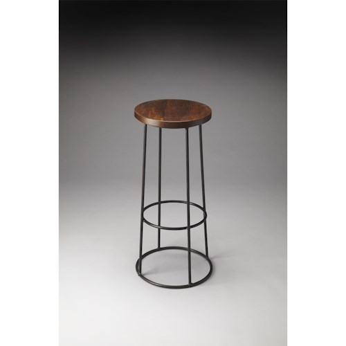 Butler Specialty Company Industrial Chic Huntington Wood & Metal Bar Stool
