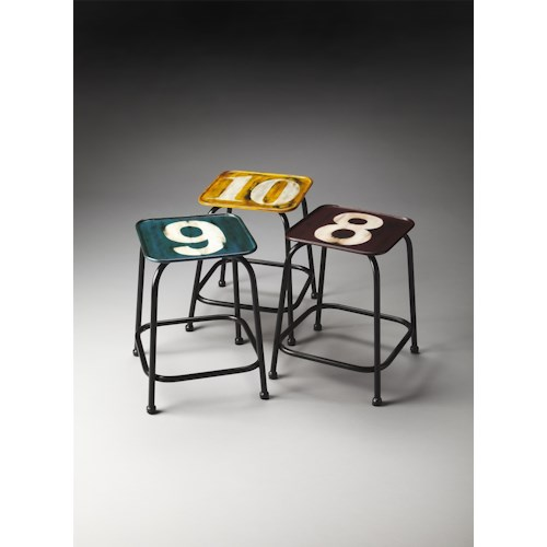 Butler Specialty Company Industrial Chic Trio Industrial Chic Stool Set