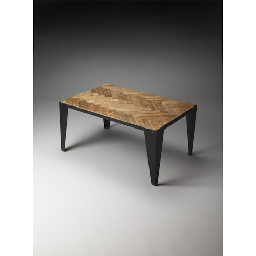 Butler Specialty Company Industrial Chic Tate Wood & Iron Cocktail Table