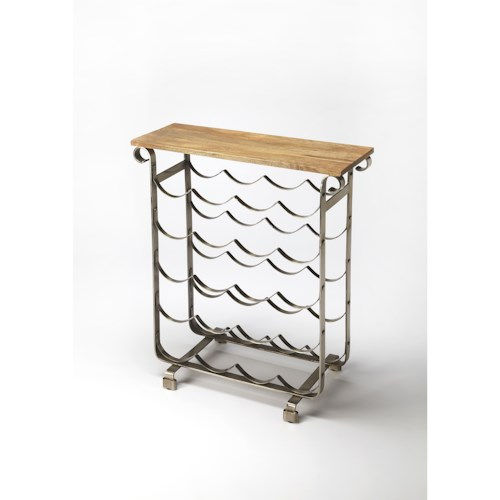 Butler Specialty Company Industrial Chic Landry Industrial Chic Wine Rack
