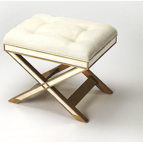 Butler Specialty Company Masterpiece  Marlo Mirror & Gold Vanity Stool