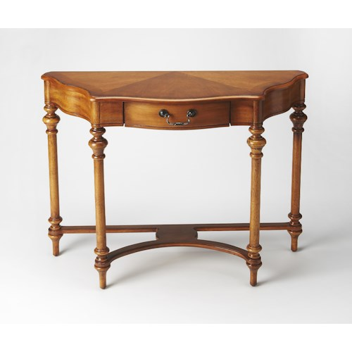 Butler Specialty Company Masterpiece  Morency Olive Ash Burl Console Table