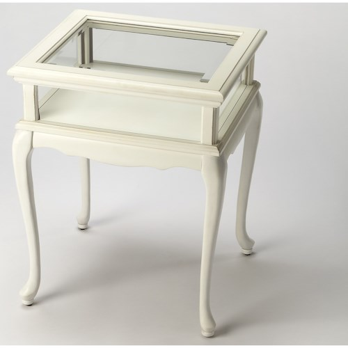 Butler Specialty Company Masterpiece Burton Cottage White Curio Table