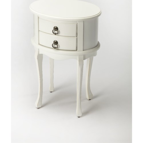 Butler Specialty Company Masterpiece Whitley Cottage White Oval Side Table