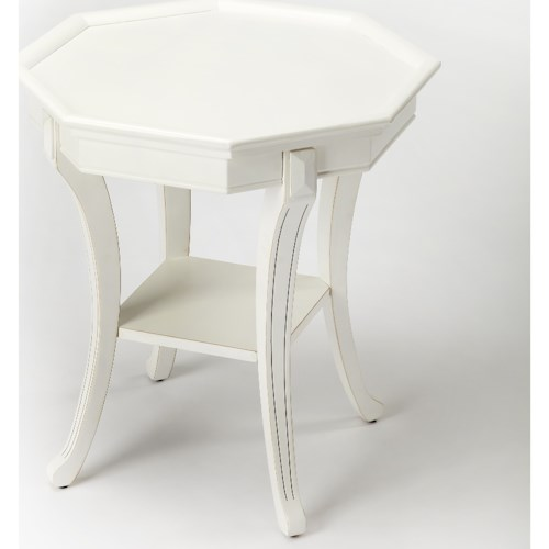 Butler Specialty Company Masterpiece Kingston Cottage White End Table