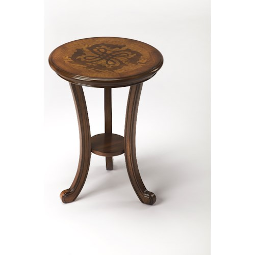 Butler Specialty Company Masterpiece  Yates Vintage Oak Accent Table
