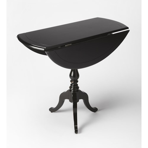 Butler Specialty Company Masterpiece  Theodore Black Licorice Drop-Leaf Hall Table