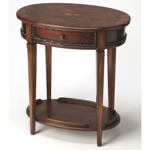 Butler Specialty Company Masterpiece  Adelaide Antique Cherry Oval Side Table