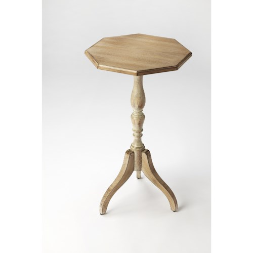 Butler Specialty Company Masterpiece  Archambault Driftwood Octagonal Pedestal Table