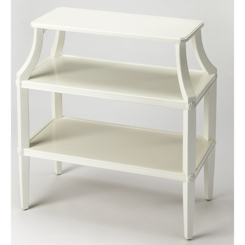 Butler Specialty Company Masterpiece Appleton Glossy White Tiered Console Table
