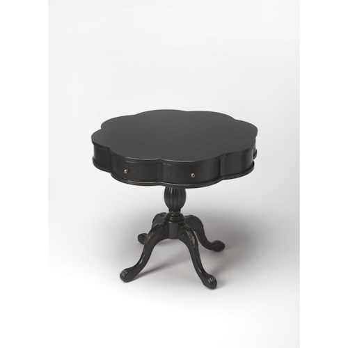 Butler Specialty Company Masterpiece  Chatham Black Licorice Clover Pedestal Table