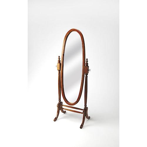 Butler Specialty Company Masterpiece  Olive Ash Burl Cheval Mirror