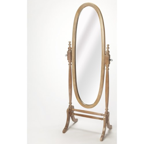 Butler Specialty Company Masterpiece  Caroline Driftwood Cheval Mirror