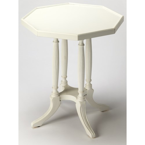 Butler Specialty Company Masterpiece Adolphus Cottage White Octagonal Accent Table