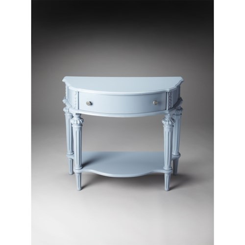 Butler Specialty Company Masterpiece  Halifax Glossy Wedgewood Console Table