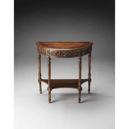 Butler Specialty Company Masterpiece  Danelle Dark Toffee Demilune Console Table