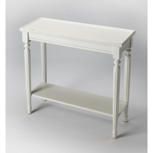 Butler Specialty Company Masterpiece  Aubrey Cottage White Console Table
