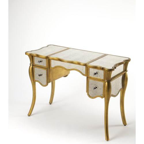 Butler Specialty Company Masterpiece  Isabella Gold Leaf Vanity